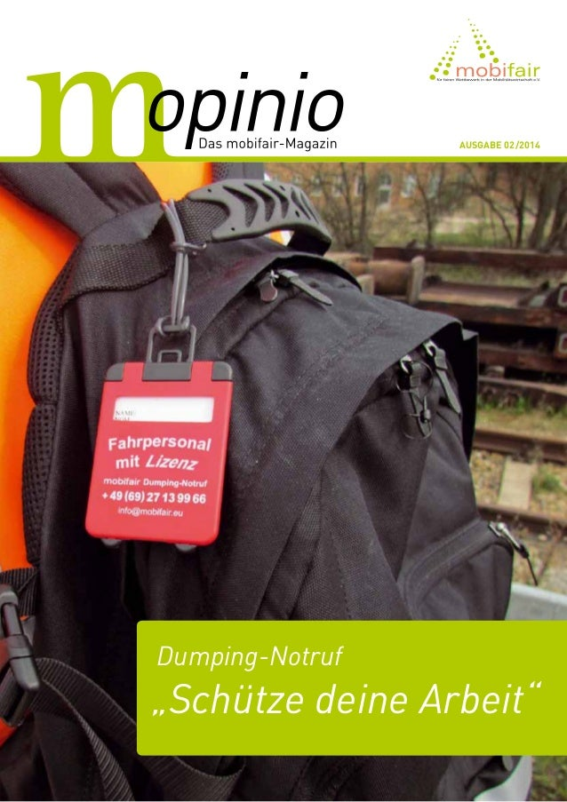 """Dumping-Notruf """"Schütze deine Arbeit"""" Ausgabe 02/2014"""