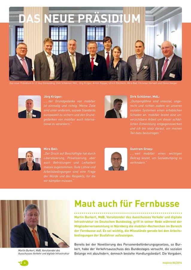 """mopinio 04/20146 Jörg Krüger:  """"…der Grundgedanke von mobifair ist einmalig und richtig. Meine Ziele sind unter anderem..."""