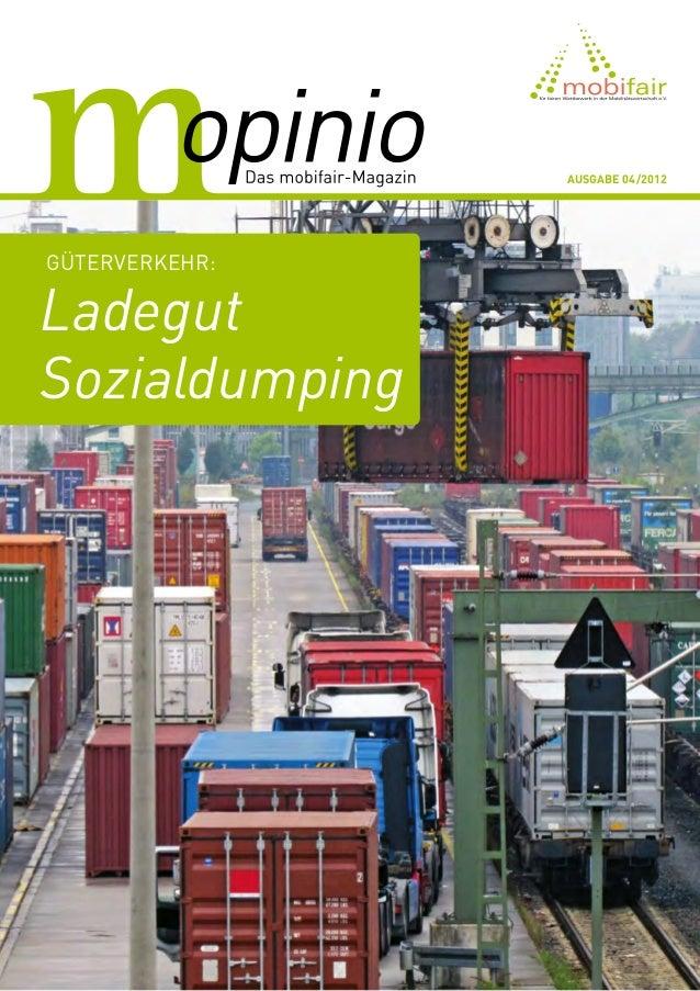 Ausgabe 04/2012Güterverkehr:LadegutSozialdumping