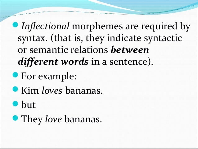 Derivational morphemes are different in that syntax does not require the presence of derivational morphemes; they do, how...