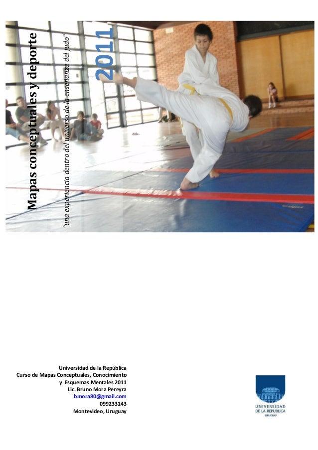 """2011  Mapas conceptuales y deporte                                 """"una experiencia dentro del universo de la enseñanza de..."""