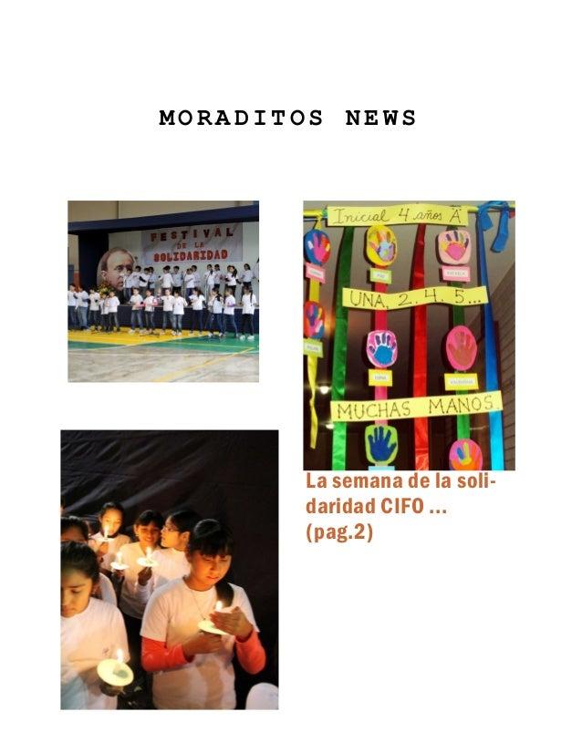 MORADITOS NEWS  La semana de la solidaridad CIFO ... (pag.2)
