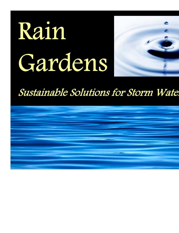 RainGardensSustainable Solutions for Storm Water Runoff