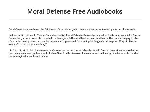 Moral Defense Free Audiobooks