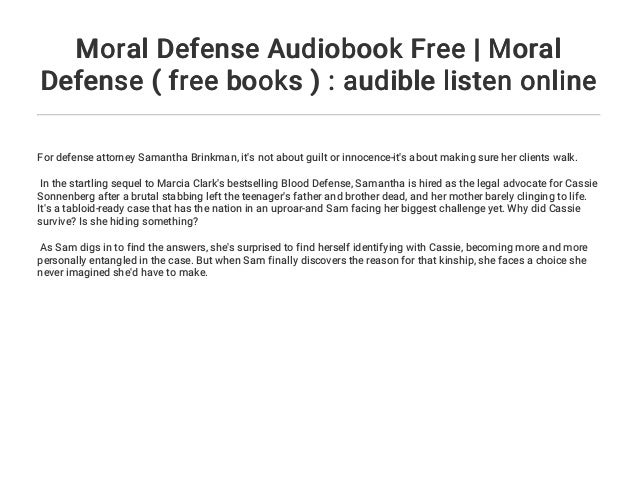 Moral Defense Audiobook Free Moral Defense Free Books Audibl