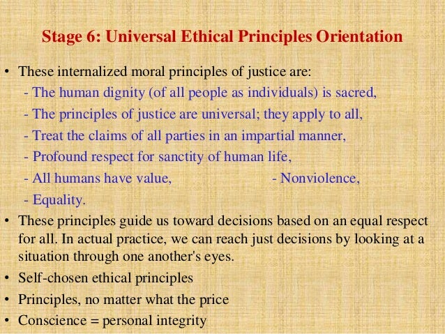 There is no universal moral standard.
