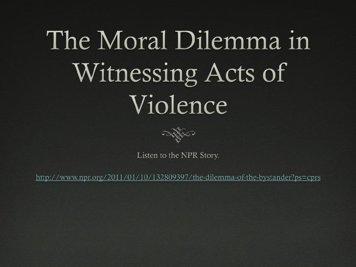 how to solve a moral dilemma