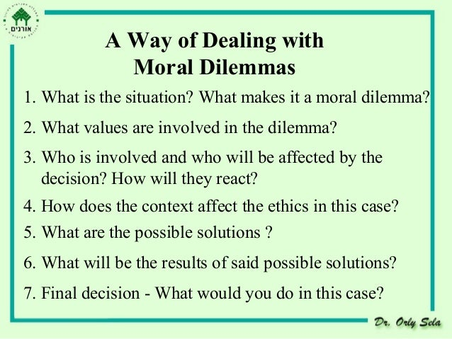moral and ethical dilemmas facing the Below are four ethical dilemmas you could face in your career as a health administrator:  and it sometimes pits budget, quality, and ethics against each other.