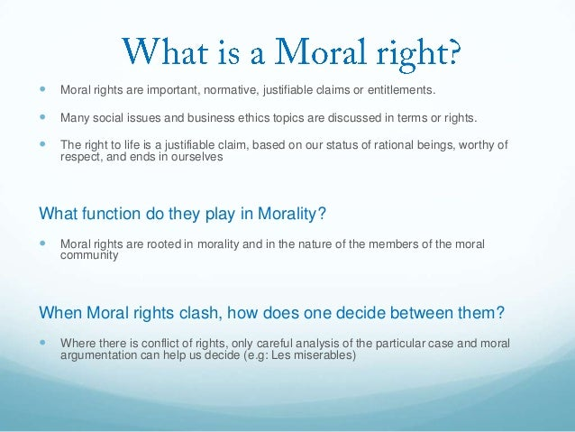 moral rights model business ethics Business ethics seeks to understand the moral issues that arise knowing-doing model • • • • • • ethics business ethics ethical business e.