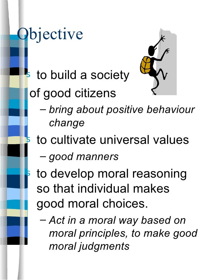 are moral values objective The first answer accurately explains objective moral values, and i would like to clear up a common misunderstanding: confusing objective moral values with absolute moral values the difference between the two is best seen by looking at their opposites.