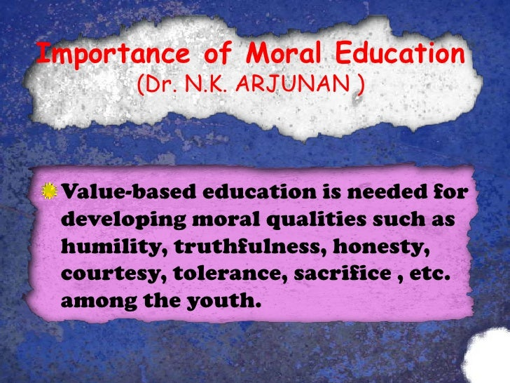 moral education importance of moral education