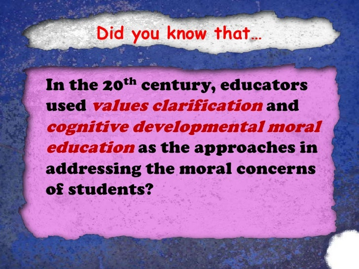 what is moral education