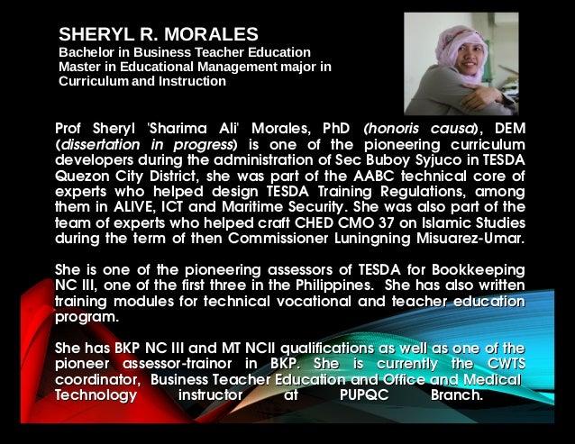 Prof Sheryl 'Sharima Ali' Morales, PhDProf Sheryl 'Sharima Ali' Morales, PhD (honoris causa(honoris causa),...