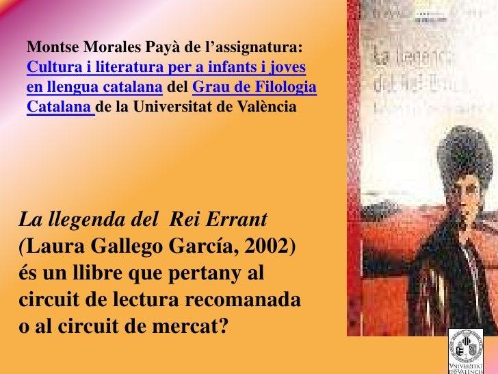 Montse Morales Payà de l'assignatura:Cultura i literatura per a infants i jovesen llengua catalana del Grau de FilologiaCa...