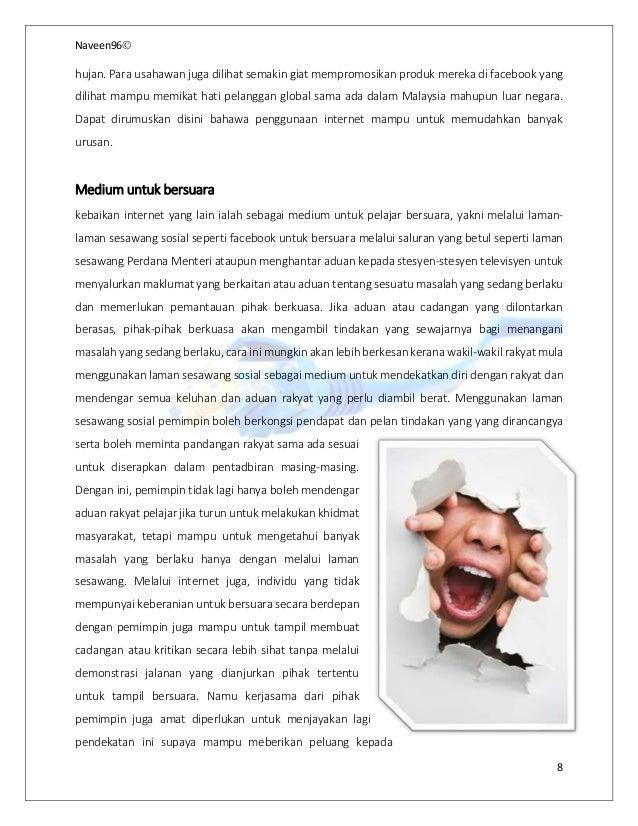 Kesan Positif Dan Negatif Penggunaan Internet Dalam Kalangan Pelajar