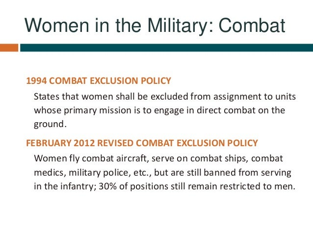 Combat Exclusion Policy