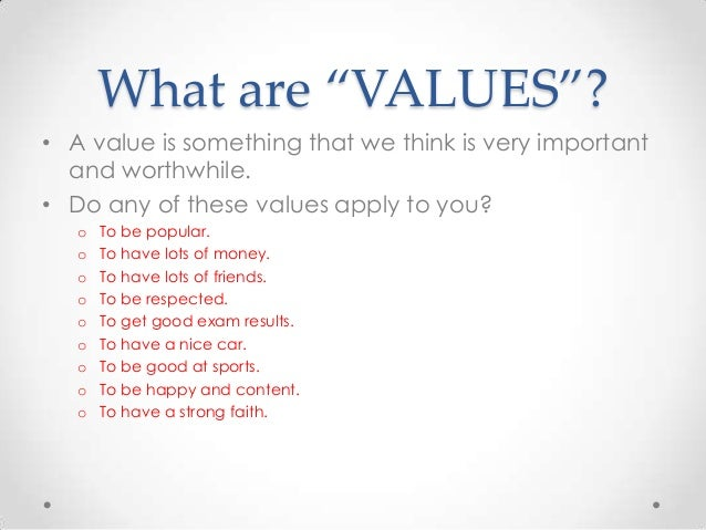 moral values for students