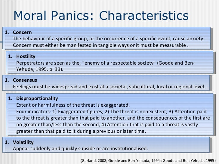 moral panics interest groups and social