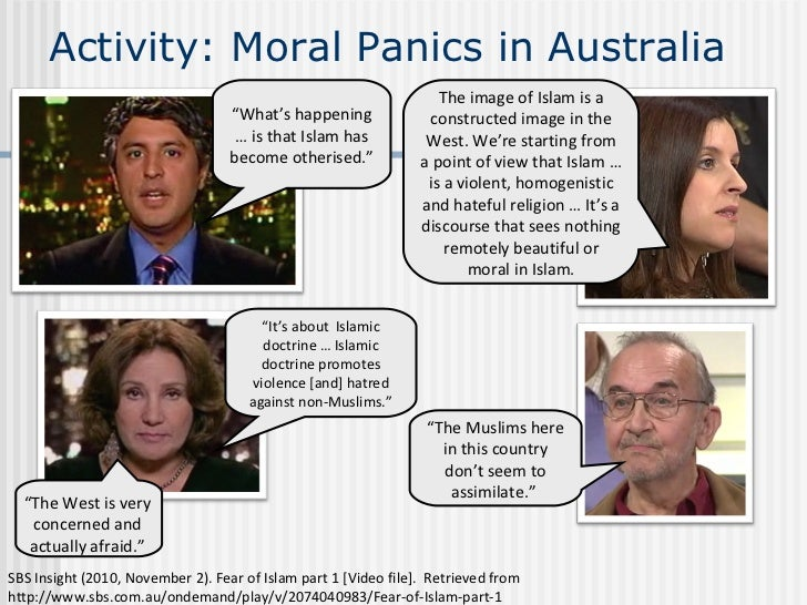 moral panics A moral panic is a feeling of fear spread among a large number of people that some evil threatens the well-being of society [1] [2] a dictionary of sociology defines.