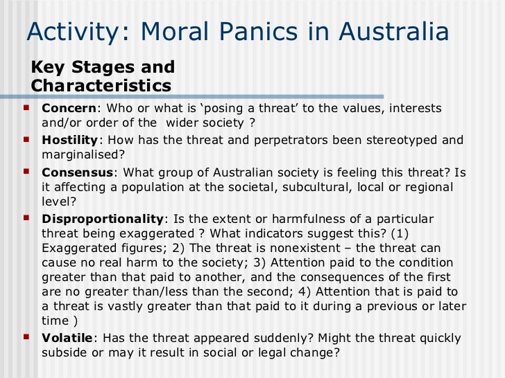 moral panic sociology What accounts for these outbreaks or episodes of moral panics three theories have been  department of sociology and anthropology, the hebrew university of.