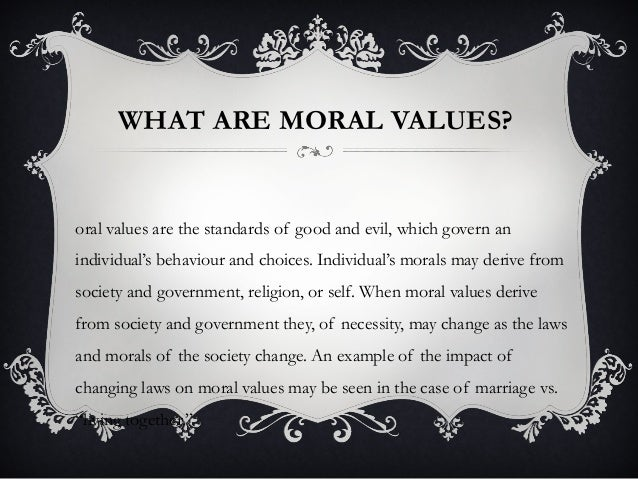 TYPES OF MORAL VALUES PDF