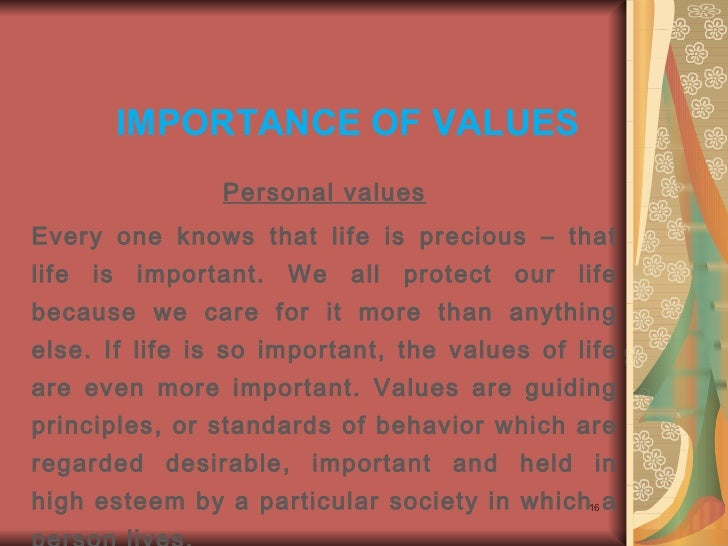 short essay on ethics and values