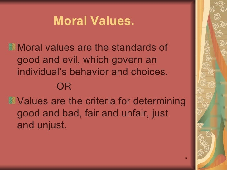 Ethics and moral values speech