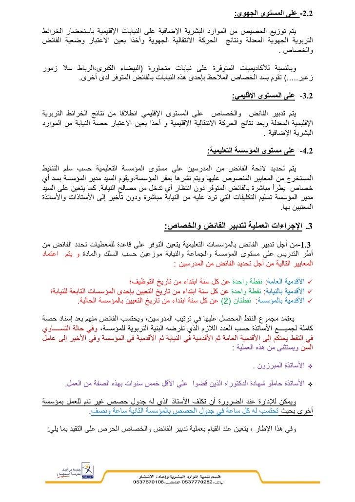 مراسلة وزاية بخصوص تدبير الفائض- يونيه 2012 Slide 2