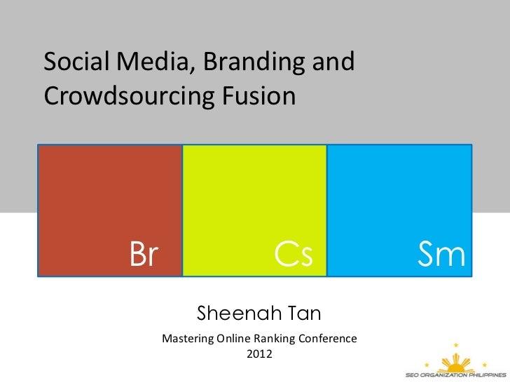 Social Media, Branding andCrowdsourcing Fusion       Br                      Cs                 Sm                  Sheena...