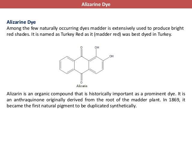 Alizarin Natural Dye