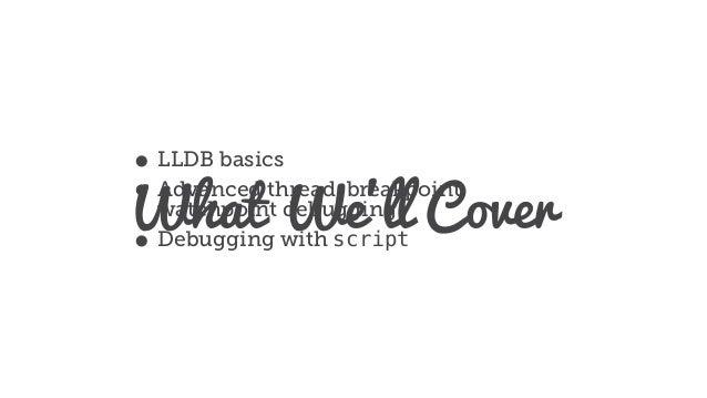 More than po: Debugging in LLDB Slide 3