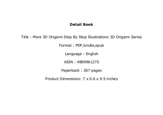 Book 3D origami download free | 451x638