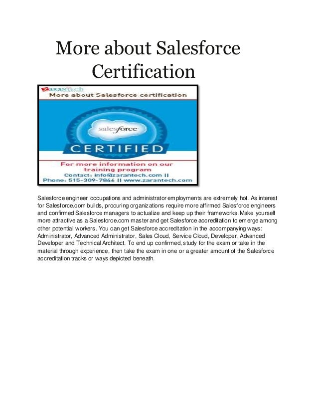 More About Salesforce