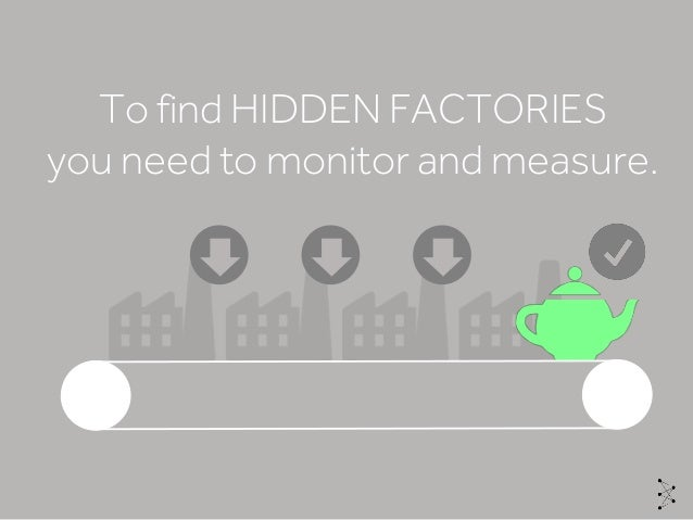 To find HIDDEN FACTORIES you need to monitor and measure.