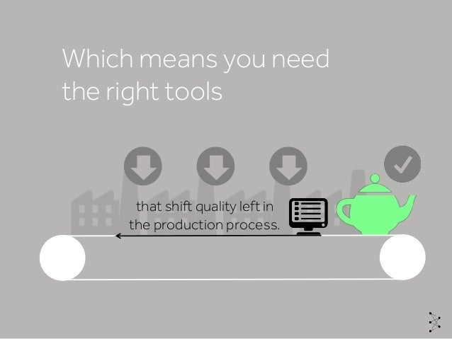 Which means you need the right tools that shift quality left in the production process.