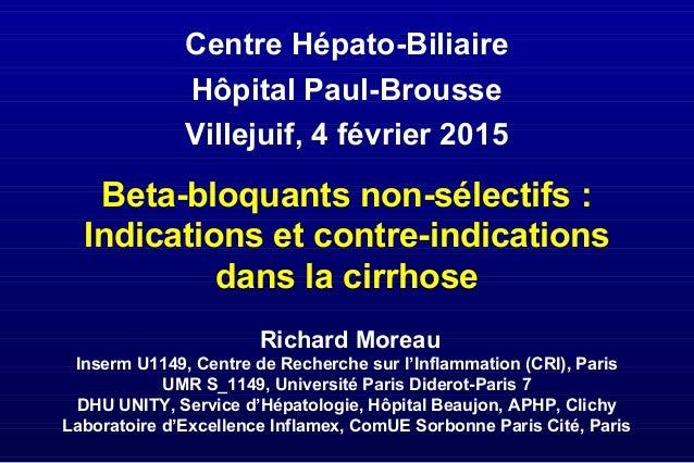Richard Moreau Inserm U1149, Centre de Recherche sur l'Inflammation (CRI), Paris UMR S_1149, Université Paris Diderot-Pari...