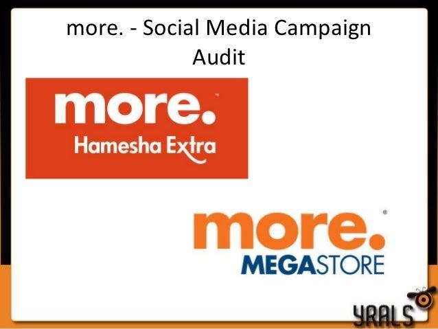more. - Social Media Campaign             Audit