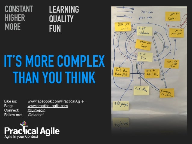 IT'S MORE COMPLEX THAN YOU THINK Like us:  Blog:  Connect: Follow me:  CONSTANT HIGHER MORE LEARNING QUALITY FUN www....