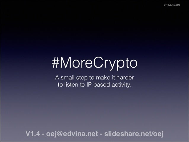 #MoreCrypto A small step to make it harder 