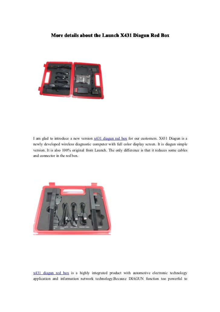 More details about the Launch X431 Diagun Red BoxI am glad to introduce a new version x431 diagun red box for our customer...