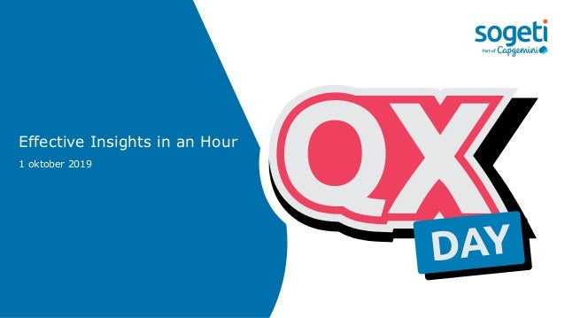 Effective Insights in an Hour 1 oktober 2019