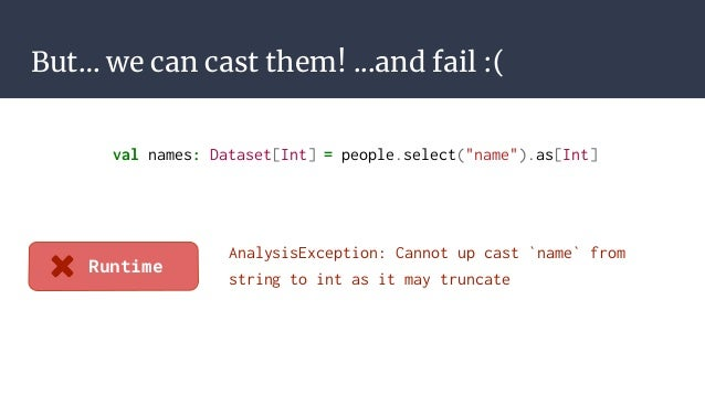 More expressive types for spark with frameless
