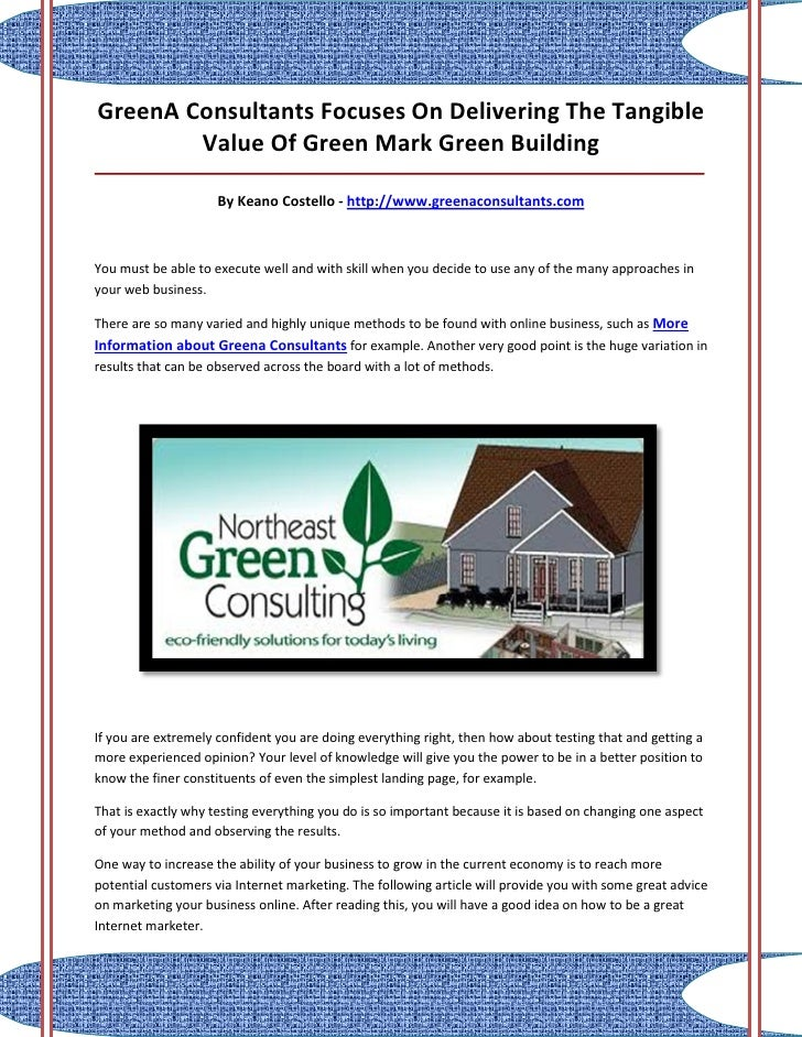 GreenA Consultants Focuses On Delivering The Tangible        Value Of Green Mark Green Building___________________________...