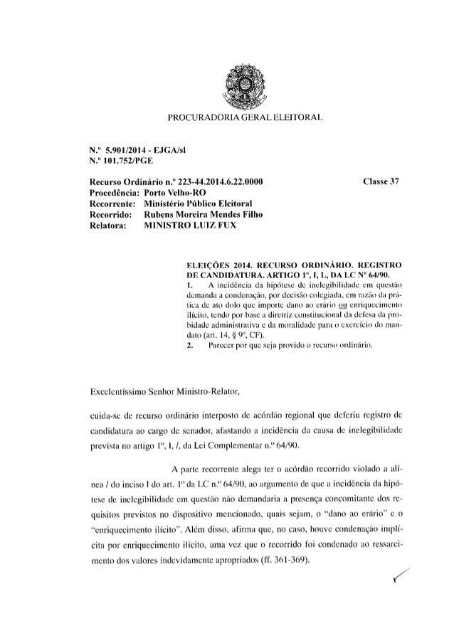 Procurador eleitoral quer barrar, no TSE, candidatura de Moreira Mendes ao Senado