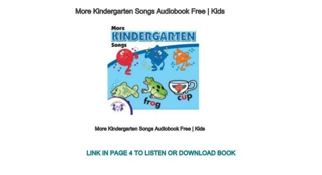 My first kindergarten songs audiobook free   kids.