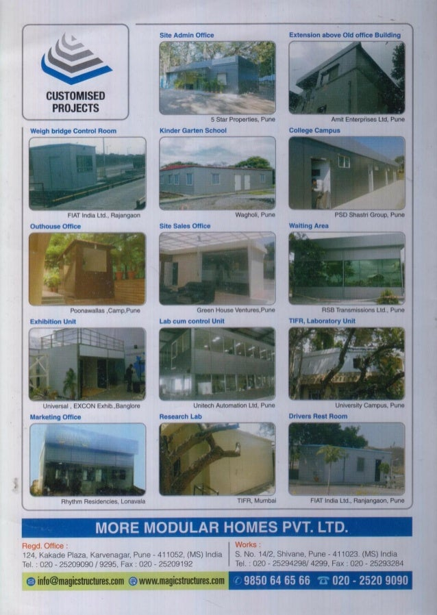 More Modular Homes Private Limited, Pune, Prefabricated Structures