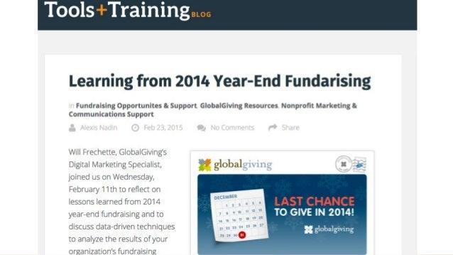 Calendario de Campañas y Fechas Importantes de GlobalGiving