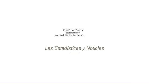 Las Estadísticas y Noticias QuickTime™ and a decompressor are needed to see this picture.