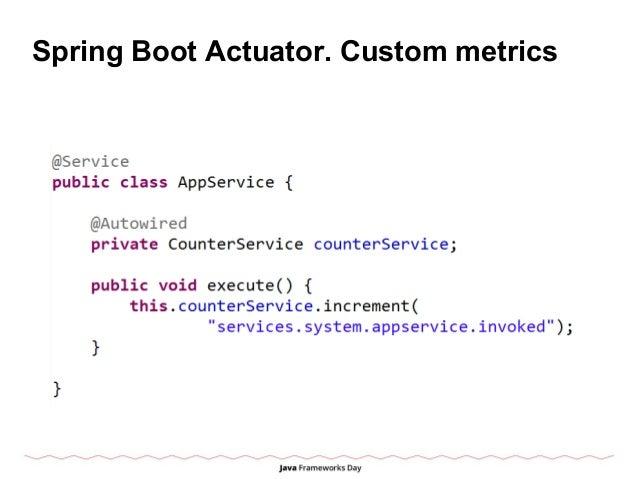 Spring Boot Actuator. Custom metrics