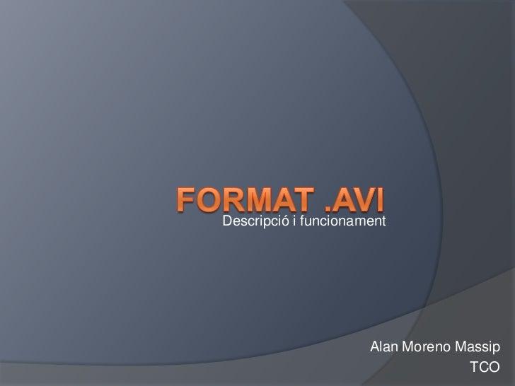 Descripció i funcionament                      Alan Moreno Massip                                   TCO